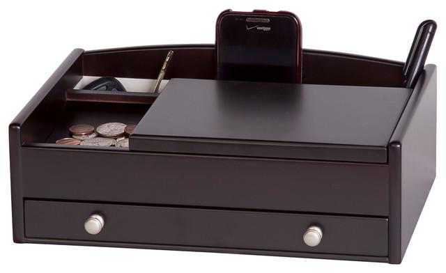 Kent Men S Wooden Dresser Top Valet Contemporary