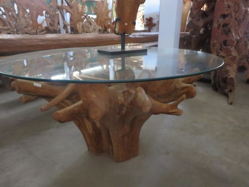 Is This A Dining Table Base If So What Is Height Length Width - Teak root dining table base