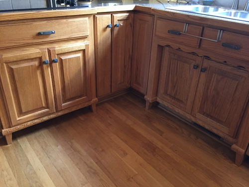 Updating Country Kitchen  Paint The Custom Wood Stained Cabinets??