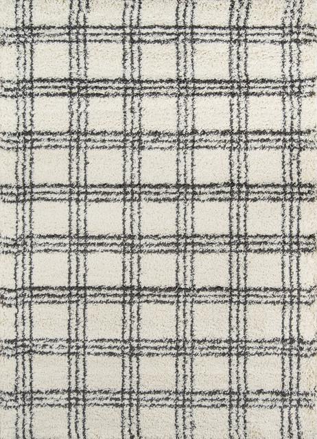 Maya 2 Thick Pile, Berber-Style Rug, Ivory, 5&x27;3x7&x27;6.