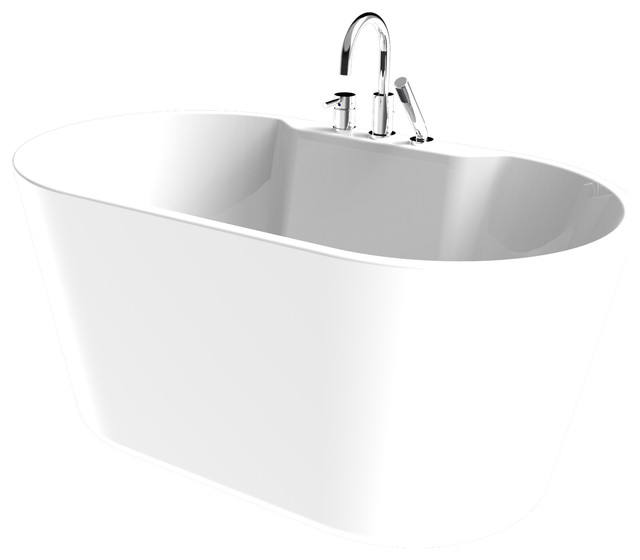 Acrylic Oval Freestanding Tub Set Contemporary Bathroom  Sink And Faucet Parts