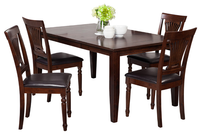 aden seven piece dining set distressed light cherry and