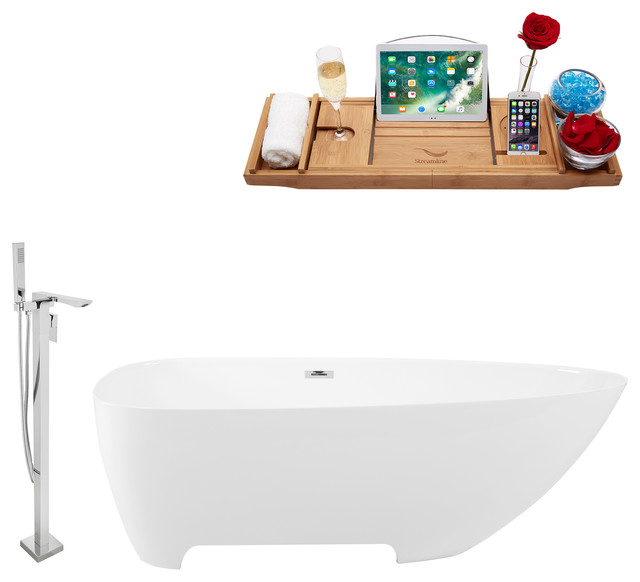 "Tub, Faucet and Tray Set Streamline 67"" Freestanding"