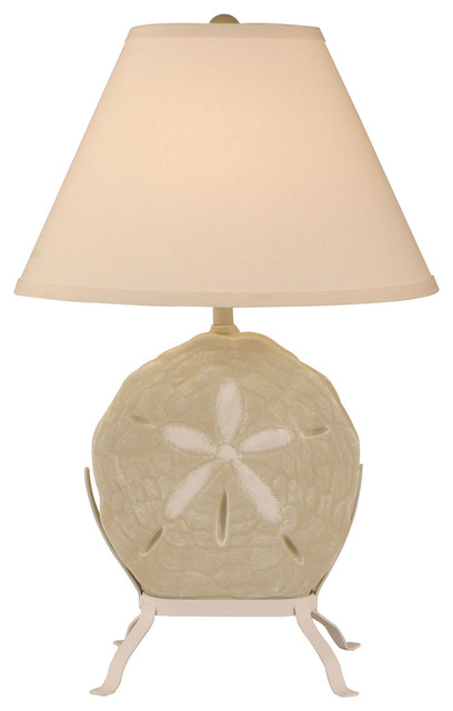 Sisal Accent Sand Dollar On Stand Table Lamp