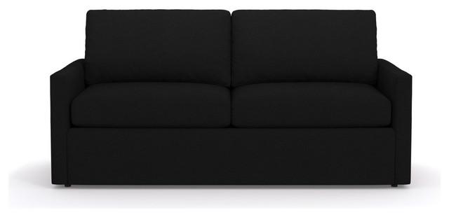 Fabian Queen Size Sleeper Sofa, Innerspring Mattress, Black.