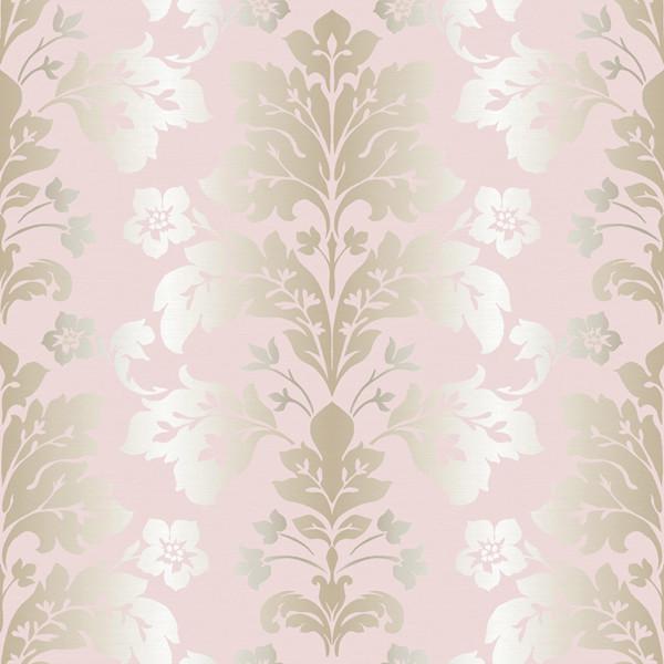 camila rose modern damask wallpaper swatch contemporary wallpaper - Contemporary Damask Wallpaper