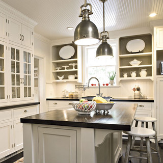 White & Black Kitchen traditional kitchen