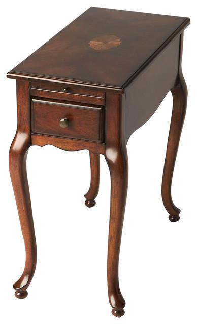 Croydon Plantation Cherry Chairside Table - Dark Brown.