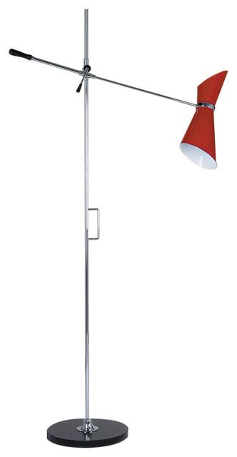 Adjustable Stilnovo Red Floor Lamp