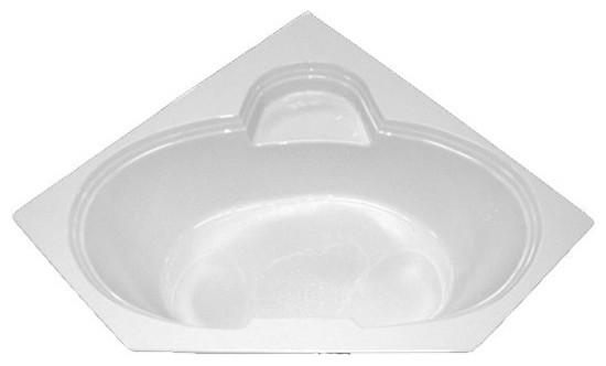 American Acrylic And Injection Corner Whirlpool Tub, Bone.