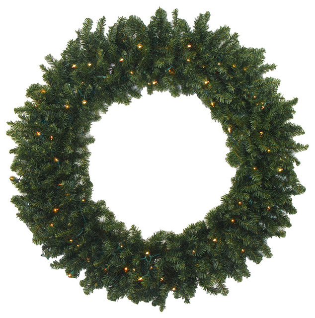 30 Pre Lit Battery Operated Canadian Pine Christmas Wreath Clear Led Lights Wreaths And Garlands By Northlight Seasonal
