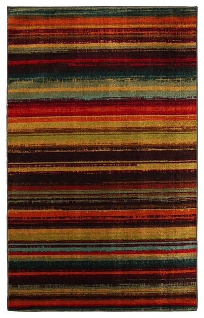 Multi Colored Striped Area Rugs Area Rug Ideas