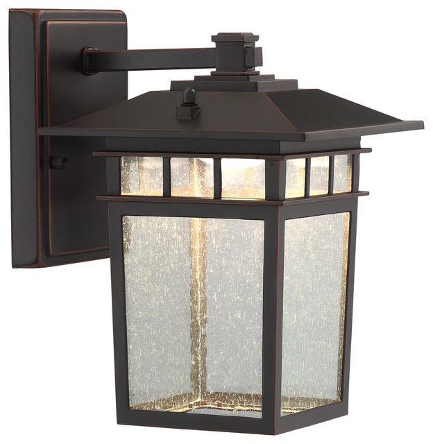 Raiden 1-Light Outdoor Wall Light, Dark Bronze - Craftsman ...