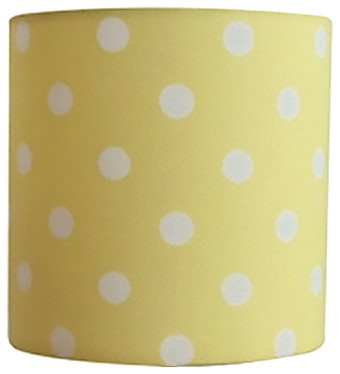 Polka dots lamp shade modern lamp shades by perrelle designs polka dots lamp shade yellow aloadofball Choice Image
