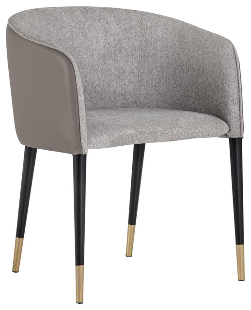 Incredible Sunpan Asher Chair Flint Gray Fabric Napa Taupe Leather Gmtry Best Dining Table And Chair Ideas Images Gmtryco