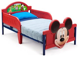 Safe Cute Low Profile Plastic Metal Mickey Mouse Toddler