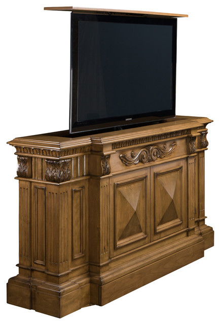 TV Lift Cabinet Belvedere, Made in USA - Traditional - Entertainment Centers And Tv Stands - by ...