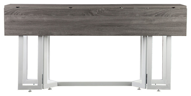 holly u0026 martin driness drop leaf table white and weathered gray