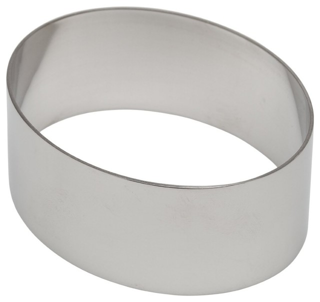 "Ateco Stainless Steel Oval Shaped Form, 4""."