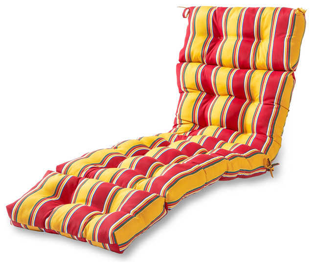 Palma Outdoor Chaise Lounge Cushion Sunset Stripe