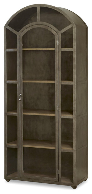 French Modern Industrial Metal And Glass Curio Cabinet Industrial China  Cabinets And