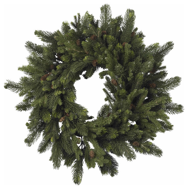 "30"" Pine And Pinecone Wreath."