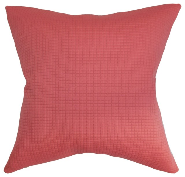 Decorative Pillows Plain : Nimrodel Plain Pillow Red - Traditional - Decorative Pillows - by The Pillow Collection Inc.