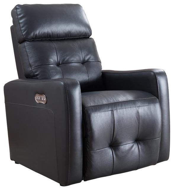 Strange Contemporary Living Room Electric Recliner Power Chair Black Machost Co Dining Chair Design Ideas Machostcouk