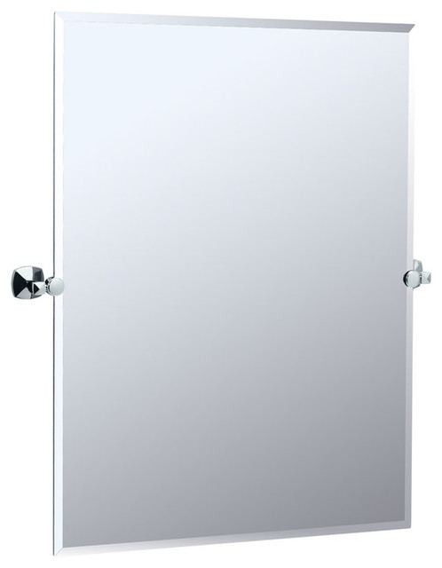 Gatco Large Rectangular Tilting Wall Mirror In Chrome