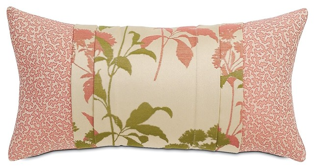 """11""""x21"""" Gemma Coral Floral Indoor Outdoor Luxury Pillow Cover"""