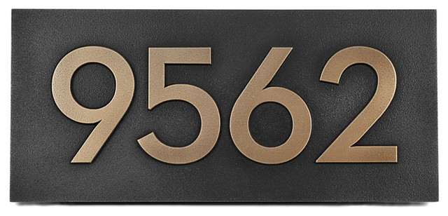Neutraface address plaque 15 5 x7 modern house numbers for Modern house number plaques