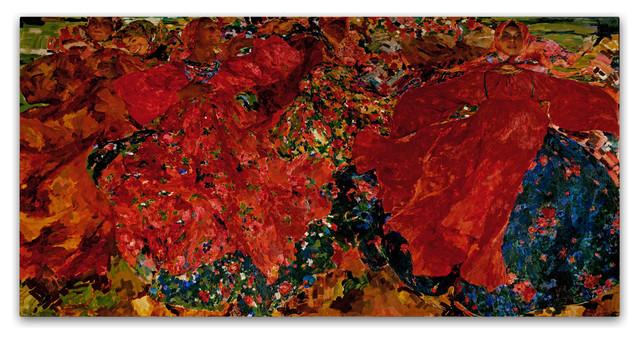 Filipp Malyavin &x27;whirlwind&x27; Canvas Art, 47 X 24.