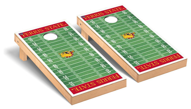Ferris State Bulldogs Cornhole Games Cornhole Game Set Football Field Contemporary Outdoor And Lawn Games By Victory Tailgate