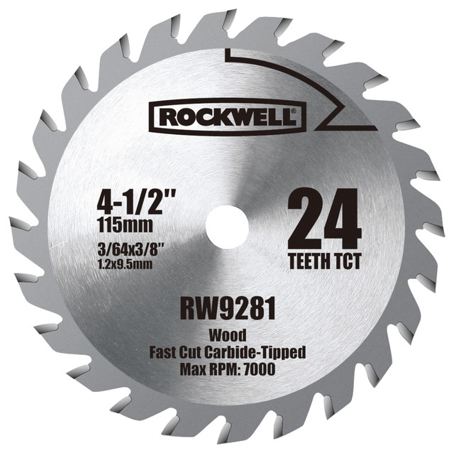 "Rockwell 4-1/2"" Tungsten Carbide-Tipped Compact Circular Saw Blade"