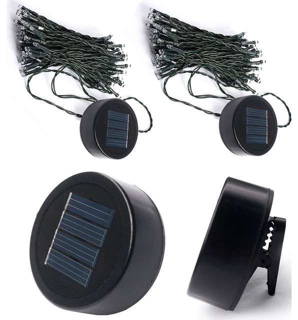 touch of eco liteup50 solar clip on string lights 2 pack view in your room houzz. Black Bedroom Furniture Sets. Home Design Ideas