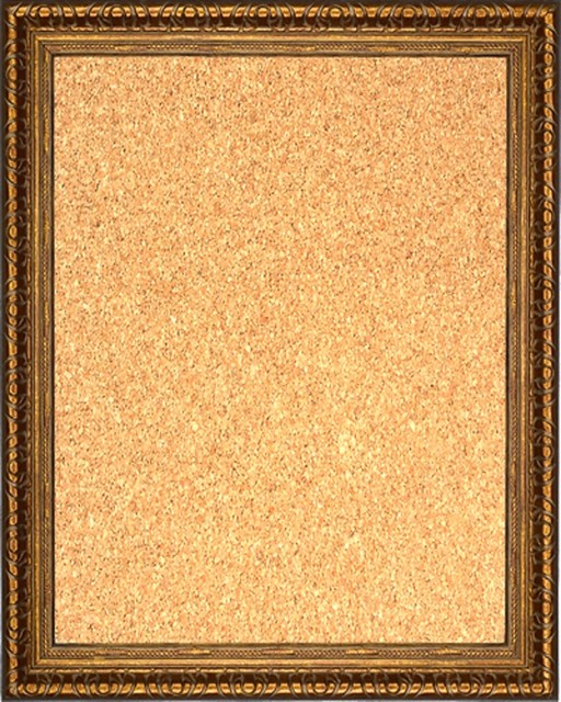 framed cork board 16 x 20 with copper finish frame traditional bulletin