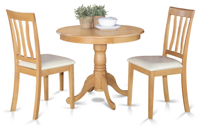 East west furniture anti lc kitchen table set view in for Traditional kitchen table sets