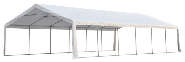 Outsunny 20x40 Party Tent Event Canopy With Sidewalls and Windows White  sc 1 st  Houzz & Outsunny 20x40 Party Tent Event Canopy With Sidewalls and Windows ...