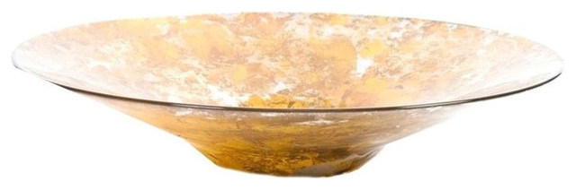 decorative gold flecked glass bowl 375 est retail 75 on - Decorative Glass Bowls