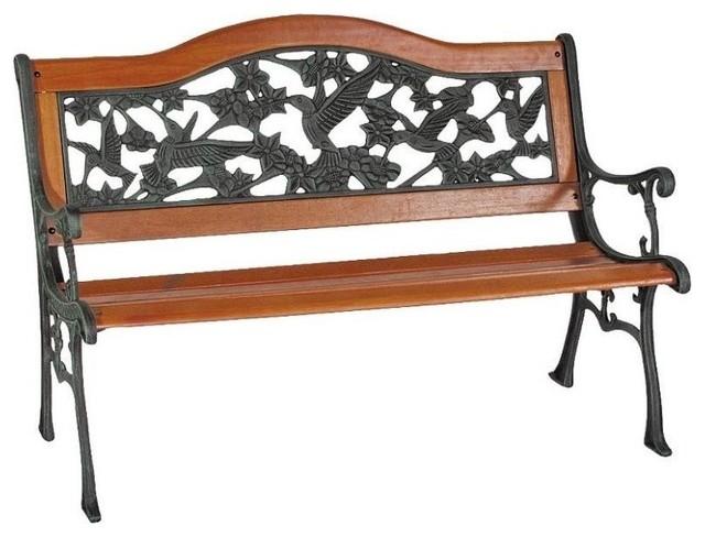 Genial Worldwide Sourcing 9 Slat Hummingbird Park Bench