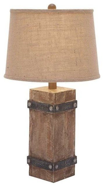 Wooden Table Lamp Rustic Table Lamps By Amb Furniture Design