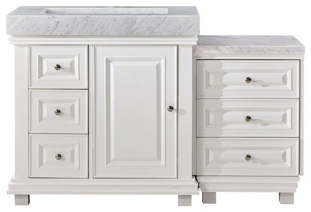 Silkroad Exclusive 55.5 Bathroom Vanity, Single Sink Cabinet, Right.