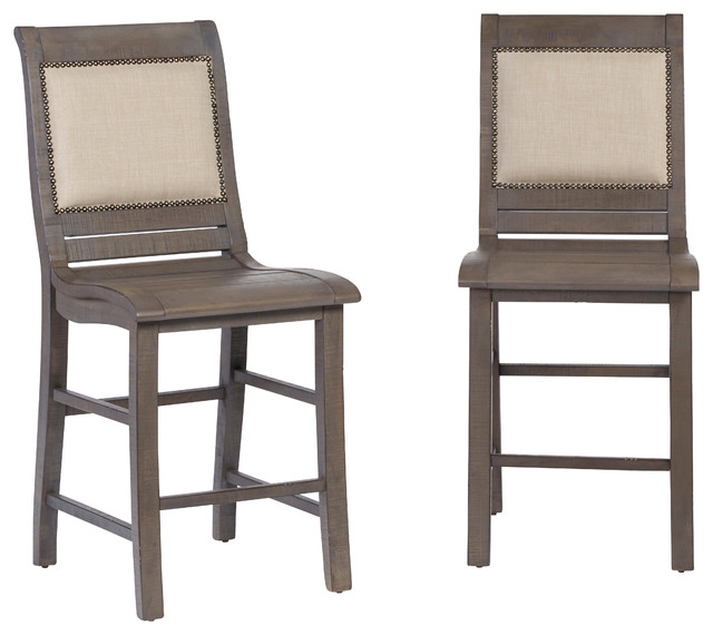 Willow Upholstered Counter Chair, Set Of 2.