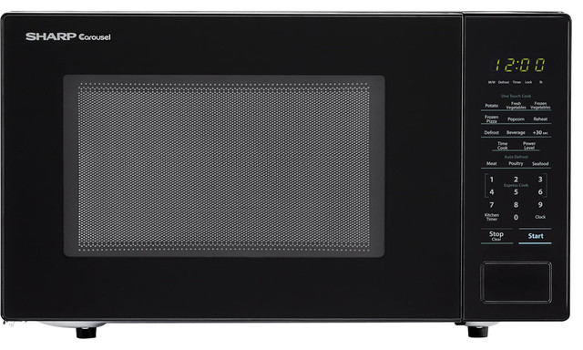 Carousel 1.1 Cu. Ft. 1000w Countertop Microwave Oven In Black (ista 6 Packaging).