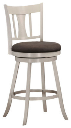 Tabib Counter Chair With Swivel, White.