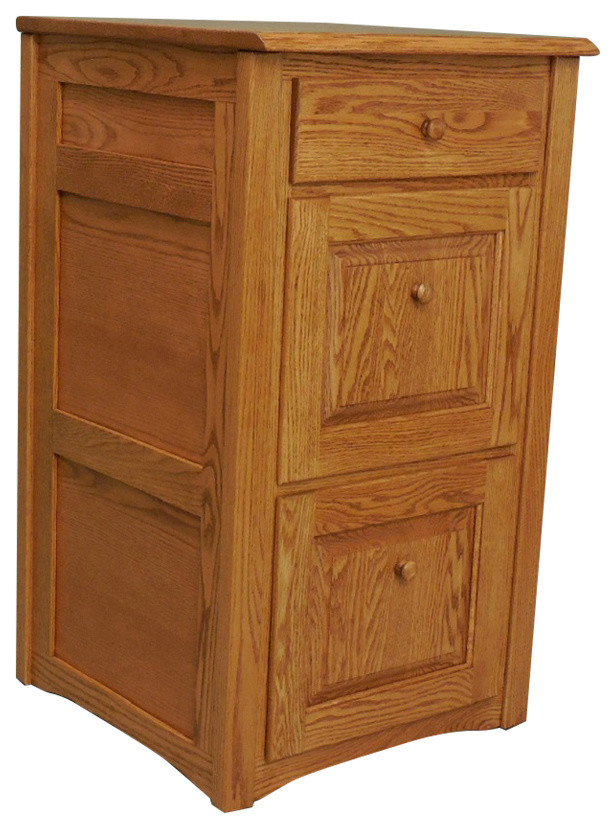 Country Trend Style Solid Oak 3 Drawer Filing Cabinet ...