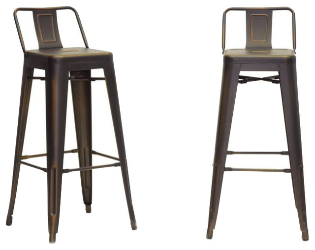 Baxton Studio French Industrial Modern Bar Stool in Antique Copper Set of 2 industrial-  sc 1 st  Houzz & Baxton Studio French Industrial Modern Bar Stool in Antique Copper ... islam-shia.org