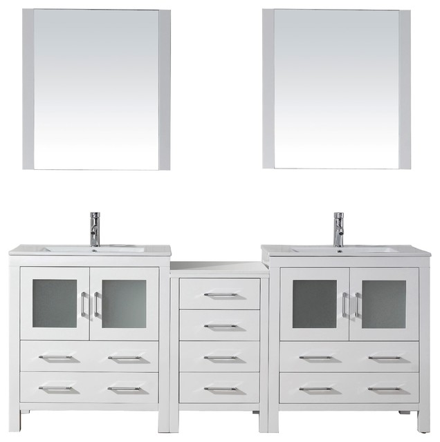 dior 78 double vanity modern bathroom vanities and sink consoles