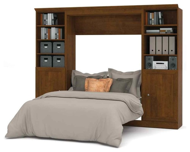 Bestar 109 Full Wall Bed With Storage Unit Melamine Finish Bedroom F