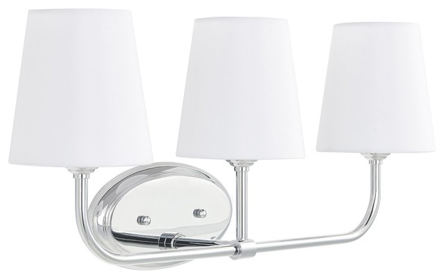 Filamia 3 Light Bathroom Vanity Light Chrome Transitional Bathroom Vanity Lighting By Linea Di Liara